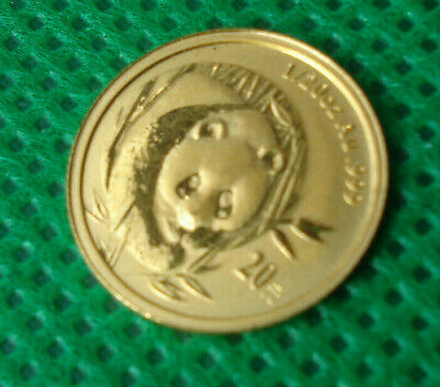 2003 1/20 oz China gold panda 20 yuan Chinese Coin Nice Shape L@@K