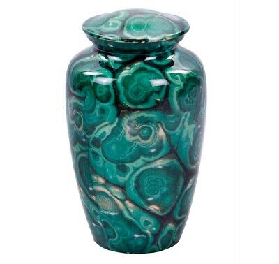 Exclusive Brazilian Green Agate Finish Cremation Urn for Human Ashes
