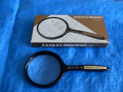 WALTEX 2.5x / 5x MAGNIFYING GLASS - EXCELLENT CONDITION