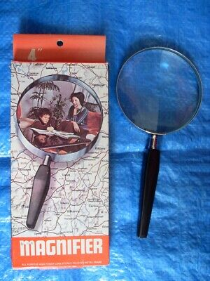 4x MAGNIFYING GLASS - EXCELLENT CONDITION