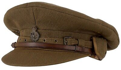 "WW1 Queen's Own Yorkshire Dragoons Officer's ""Cor Blimey"" Pattern Trench Cap"