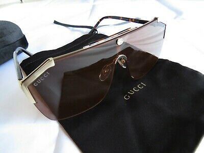 ff727c65e7 NEW AUTHENTIC GUCCI GG0291S Gold Frame Brown Lens Sunglasses ...