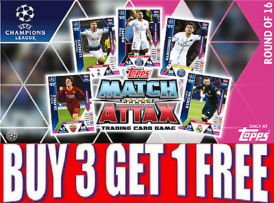 TOPPS Match Attax 18/19 CHAMPIONS LEAGUE UCL ON Demand CARDS!  BUY 3 GET 1 FREE!