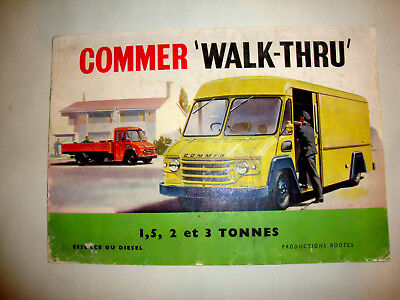 CAMION TRUCK COMMER WALK-THRU 1,5 - 2 et 3 TONNES. SALES BROCHURE