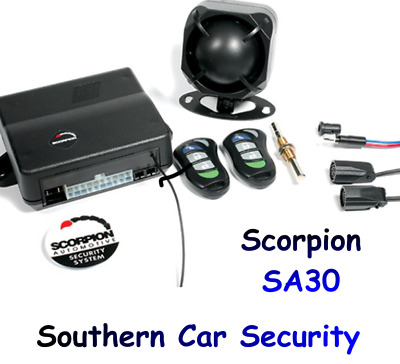 SCORPION SA30 Van Car Alarm & Immobiliser, ultra sonic's central locking control