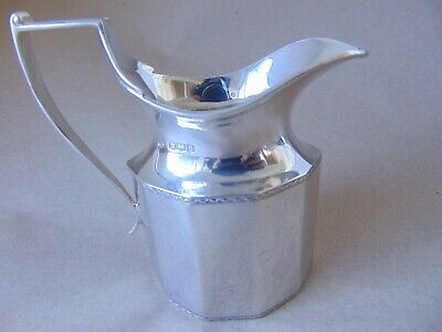 Beautiful Antique Sterling Silver Panelled Cream Jug 1921,104 Grams