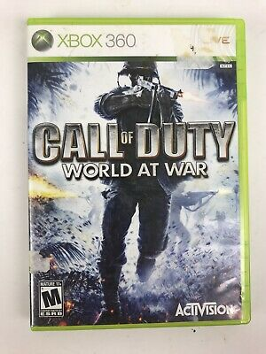 Call of Duty: World at War (Microsoft Xbox 360, 2008) Complete