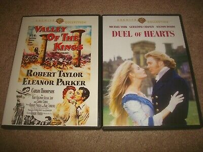 Valley of The Kings + Duel of Hearts DVD LOT Warner Archive Collection Romance