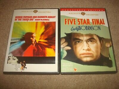 Five Star Final + The Third Day DVD LOT Warner Archive Collection Mystery Crime