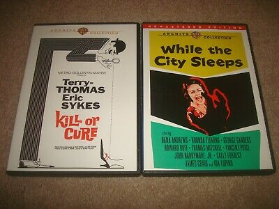 While The City Sleeps + Kill or Cure DVD LOT Warner Archive Collection Mystery
