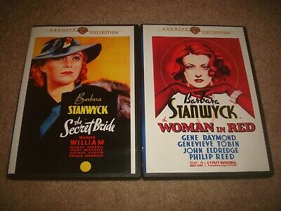 The Secret Bride Woman In Red DVD LOT Warner Archive Collection Barbara Stanwyck