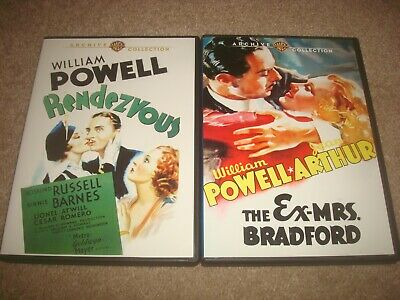 Rendezvous + Ex-Mrs. Bradford DVD LOT Warner Archive Collection William Powell