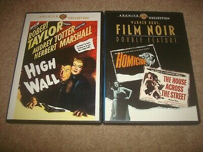 High Wall + Film Noir Double Feature Homicide DVD LOT Warner Archive Collection