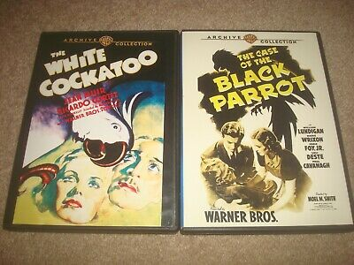 White Cockatoo + Case of the Black Parrot DVD LOT Warner Archive Collection Film