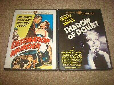 Destination Murder + Shadow of Doubt DVD LOT Warner Archive Collection Mystery