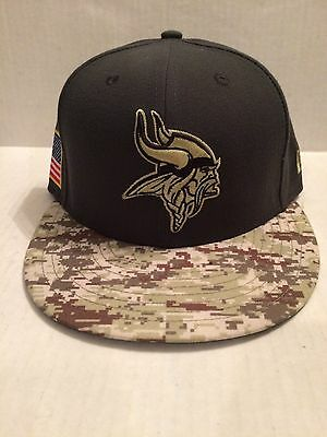 huge discount d2c8a aa079 Minnesota Vikings New Era 59Fifty NFL 2016 Salute to Service Fitted Hat 7  NWT