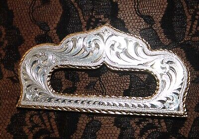 New Montana Silversmiths Back Rigging Plate Western Design Silver/Gold