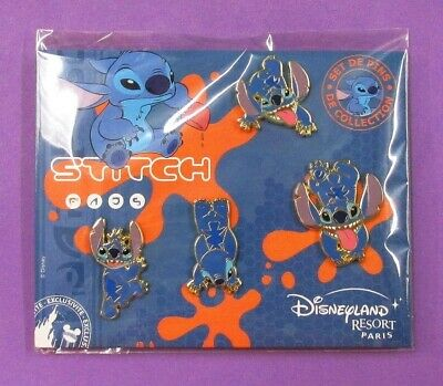 Disney Trading Pins DLRP Disneyland Paris Collection Stitch Booster Set of 4 Pin