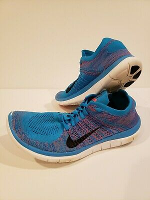 the best attitude 88a35 efe3e Men s Nike Free 4.0 Flyknit 631053-403 Running Shoes Sz us 10.5