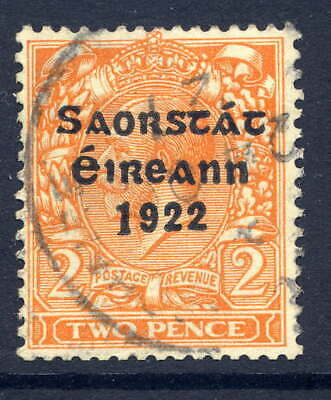 "Ireland 1923 Harrison Coil 2D With Long ""1"" Variety Fine Used With Dated Cds"