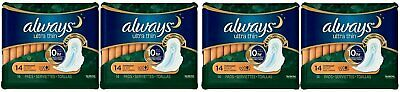 ALWAYS ULTRA THIN OVERNIGHT W/WINGS 14ct (4 PACK)