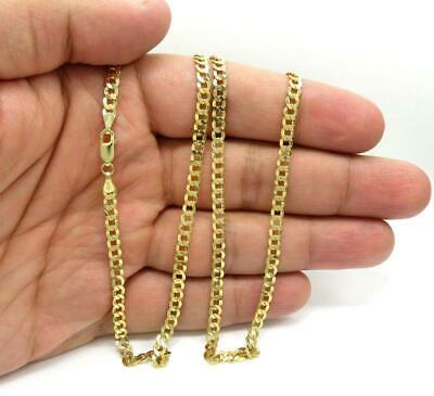 "10K Yellow Gold 5.5mm Curb Cuban Chain Link Pendant Necklace, 20""-30"""