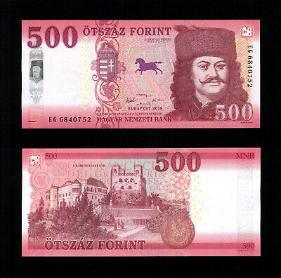 Hungary 500 Forint 2018 Prefix EG  -  GEM UNC  -  NEW!