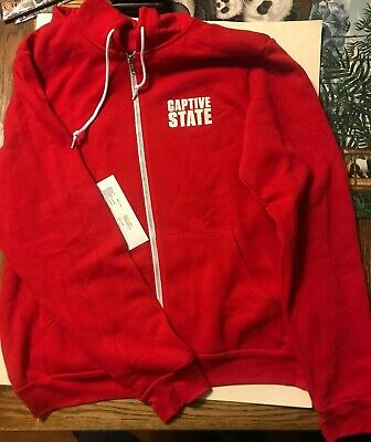 f36e5b7aa Captive State Movie Promo Hoodie Sweatshirt Red Promotional Mens Size XL  Hoody