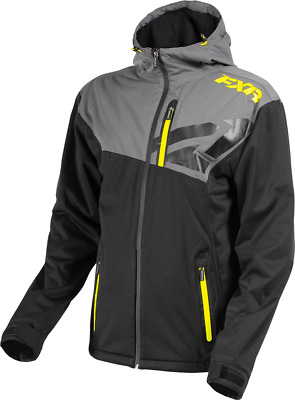 FXR MENS CLUTCH DUAL-LAMINATE JACKET -Black/Charcoal/HiVis - Large or 2XL - NEW