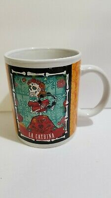La Catrina Day Of The Dead Coffee Cup Mug Mexican Aztec Folklore