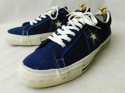 dac0748c070f CONVERSE ONE STAR Vintage Sneakers Navy Suede 90s Sports Shoes size US 8 Y79