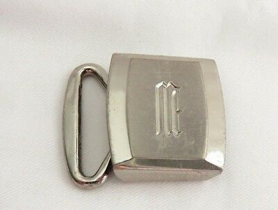 Small Vintage Hickok Master Plate Belt Buckle Initial W