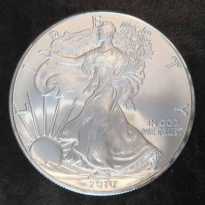 2010 Uncirculated American Silver Eagle US Mint Issue 1oz Pure Silver #H230