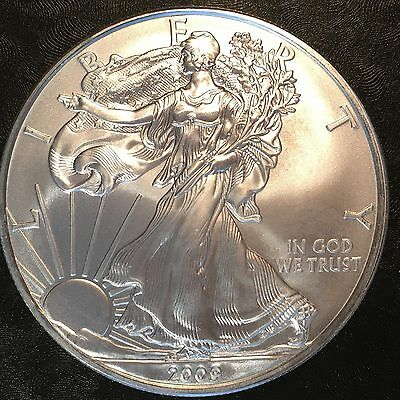 2009 Uncirculated American Silver Eagle US Mint Issue 1oz Pure Silver #D552