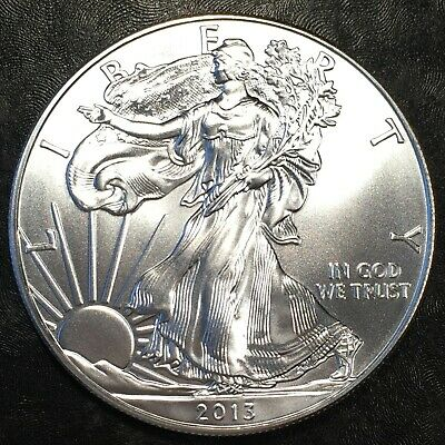 2013 Uncirculated American Silver Eagle US Mint Issue 1oz Pure Silver #H659