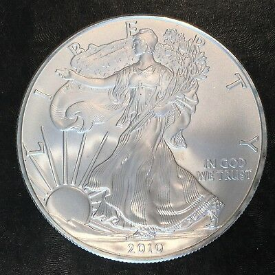 2010 Uncirculated American Silver Eagle US Mint Issue 1oz Pure Silver #H231