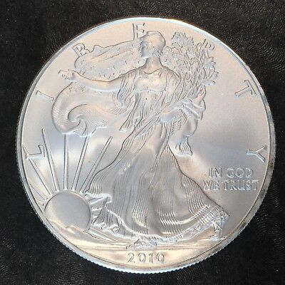 2010 Uncirculated American Silver Eagle US Mint Issue 1oz Pure Silver #H229