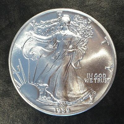 1989 Uncirculated American Silver Eagle US Mint Issue 1oz Pure Silver #G053