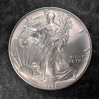 1993 Uncirculated American Silver Eagle US Mint Issue 1oz Silver BLEMISH#E678