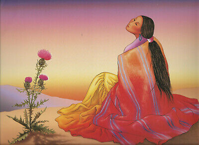 Gorman Indian Native American Navajo Art Print 29x22 Navajo Dawn R.C