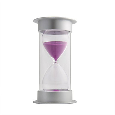 60 Minutes Hourglass,Siveit Modern Sand Timer with Purple Sand for Mantel Office