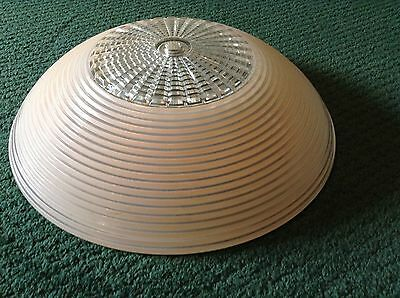 Antique VTG Large Pink Cream Glass Replacement Shade Globe Ceiling Fixture