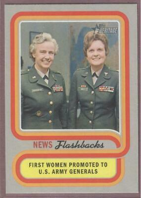 2019 Topps Heritage Baseball News Flashbacks Nf-13 First Women  Us Army Generals