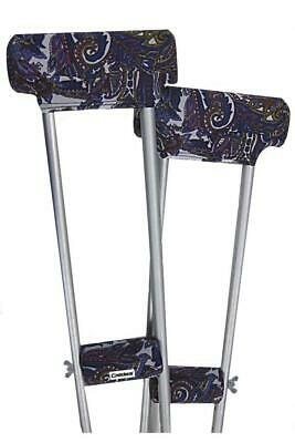 Underarm Crutch pads padded covers set Designer Paisley - Brand New