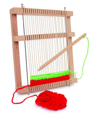 LEGLER SMALL WOODEN WEAVING LOOM MIRA CRAFT WORK ITEM CREATIVE TOY 24 x 19 CM