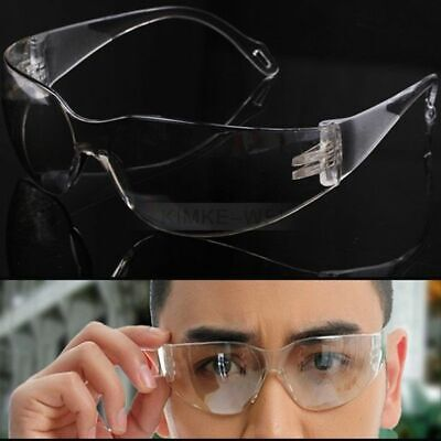 2x Work Safety Glasses Spectacles Goggles Clear Eye Protection Wrap Around