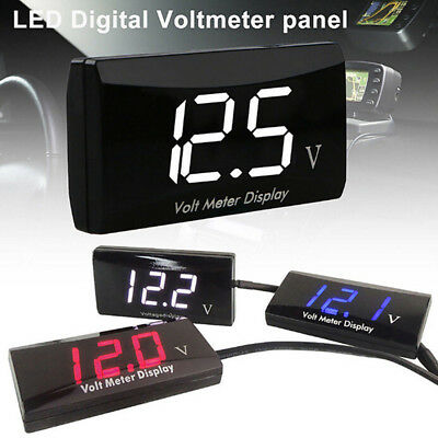12V LED Digital Display Voltmeter Voltage Gauge Panel Meter For Car Motorcycl Z0