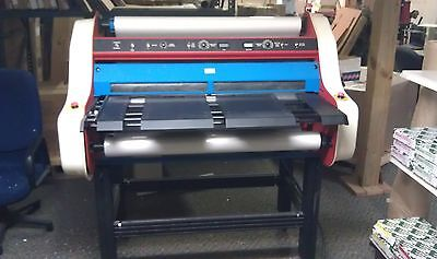 """40"""" Laminator  with 2 rolls of film made made by American Banner"""