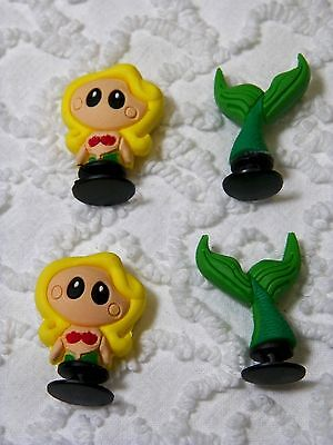 Croc Clog  3D Mermaid Clog Plug Shoe Charms Will Also Fit Jibitz,Croc C 540