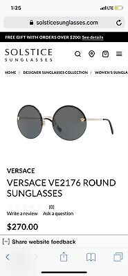 9277cef9a652 NWT Versace Sunglasses VE 2176 1252 4T Pale Gold   Grey Gold Mirror 59 mm